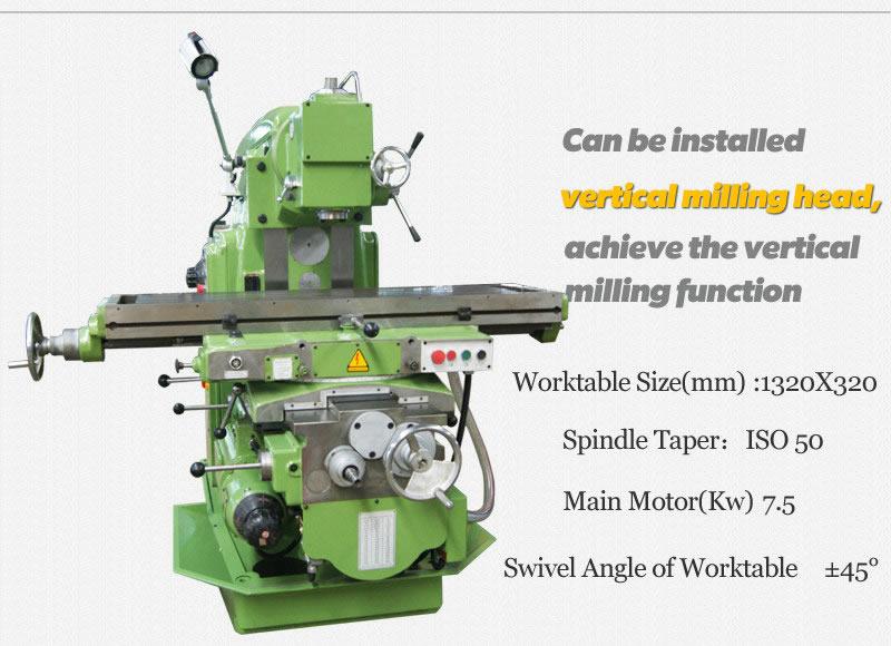 knee type milling