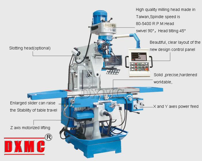 horizontal milling machine x6325w